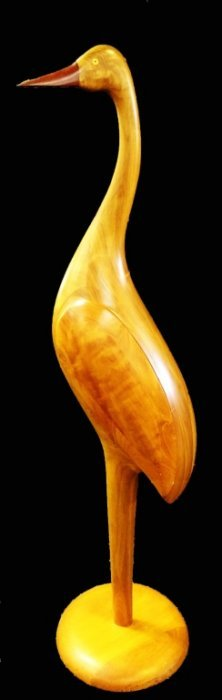 Paul Lamontagne Modernist Teak Wood Standing Duck
