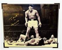 SIGNED PICTURE OF MUHAMMAD ALI VS SONNY LISTON