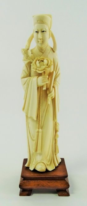 Antique Chinese Hand Carved Ivory Scholar