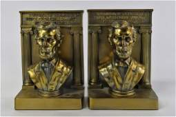 PAIR OF ABRAHAM LINCOLN BOOKENDS