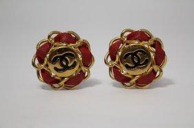 Pair Of Vintage Chanel Ladies Costume Earrings