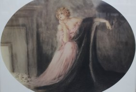 Louis Icart Print Titled 'sappho'