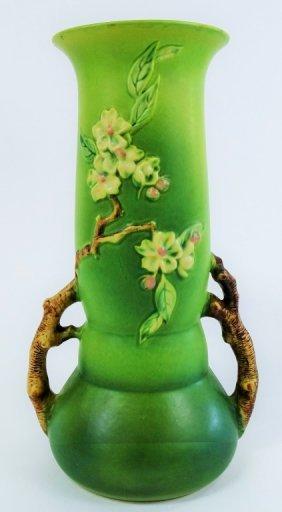 Large Roseville Apple Blossom Vase