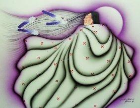 Kiowa Indian Tony Redbird Watercolor Gouache Art