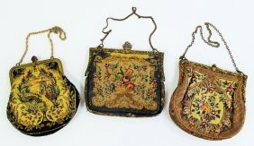 Collection Of 3 Vintage Tapestry Ladies Purses
