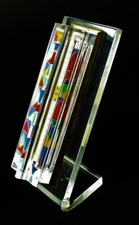 Yaacov Agam Limited Edition Mezuzah On Sterling