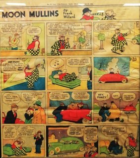 Moon Mullins Frank Willard Sunday Colored Comic