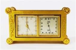 VINTAGE ANGELUS 1956 DESK CLOCK AND CALENDER