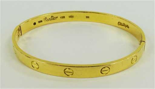18kt Cartier Love Bracelet Aldo Cipullo Large Size See Sold Price