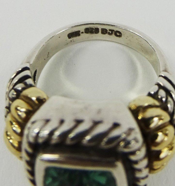 SAMUEL BEHNAM BJC 14K GOLD & STERLING SILVER RING - 5