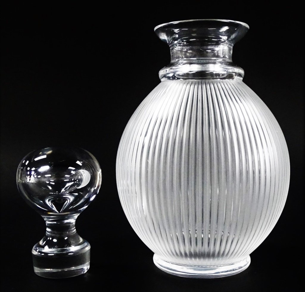 LALIQUE MOLDED CRYSTAL 'LANGEAIS' DECANTER - 2