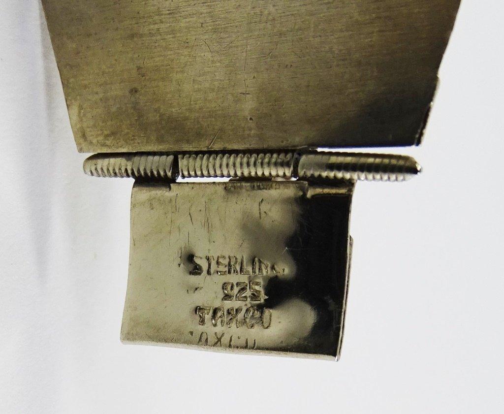 TAXCO HINGED STERLING SILVER LINK BRACELET - 5