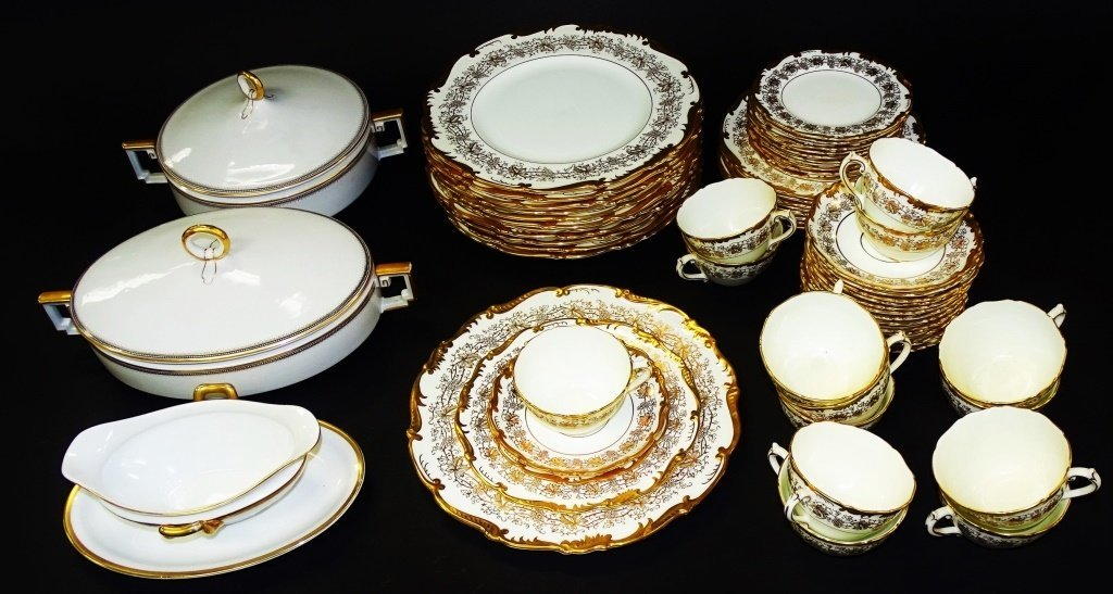 63PC COALPORT 'HAZELTON' PARTIAL DINNER SERVICE
