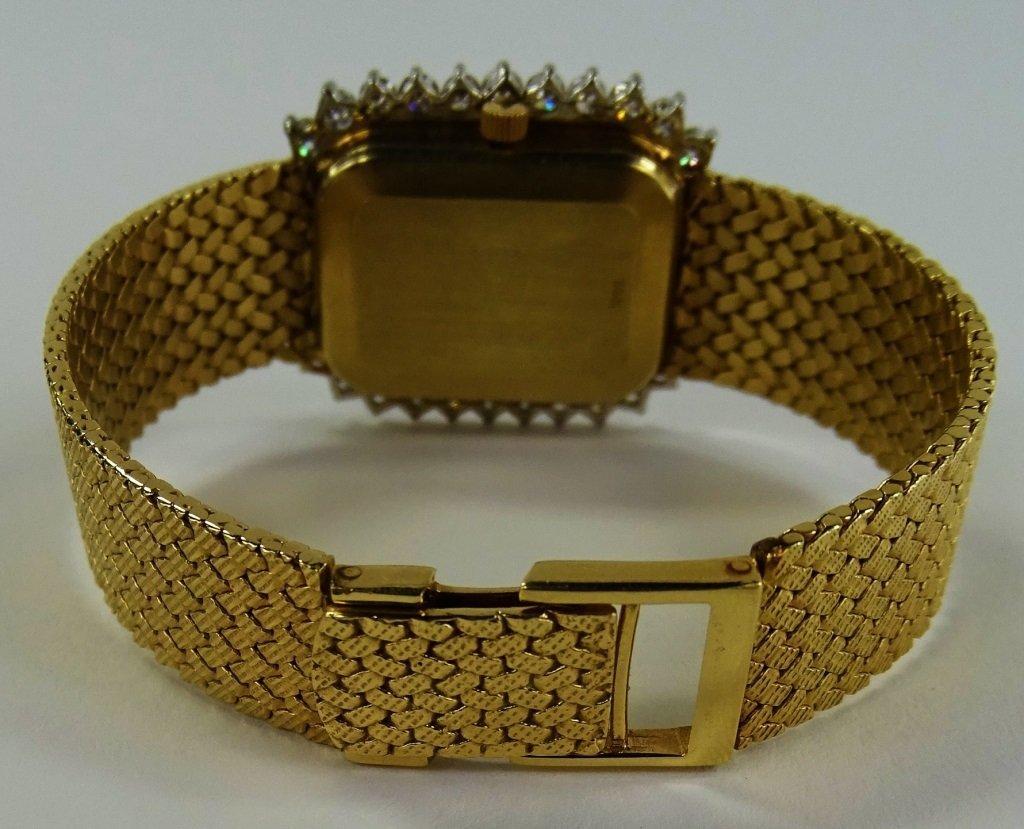 LADYS VINTAGE ANGELUS 14KT GOLD DIAMOND WATCH - 4