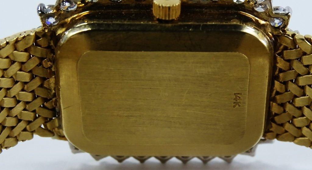 LADYS VINTAGE ANGELUS 14KT GOLD DIAMOND WATCH - 5