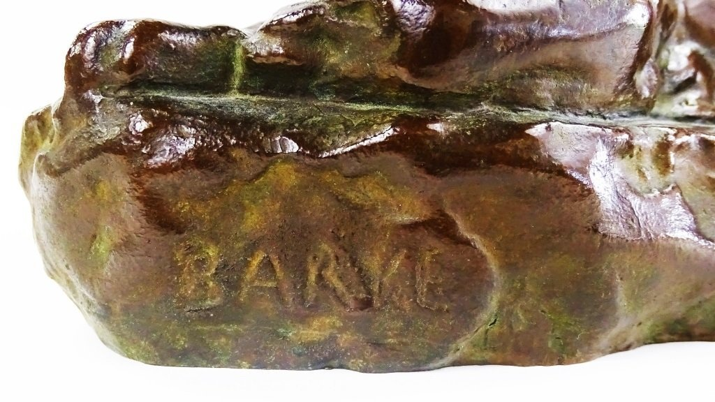 PATINATED BRONZE CAST SCULPTURE OF PANTHER - 5