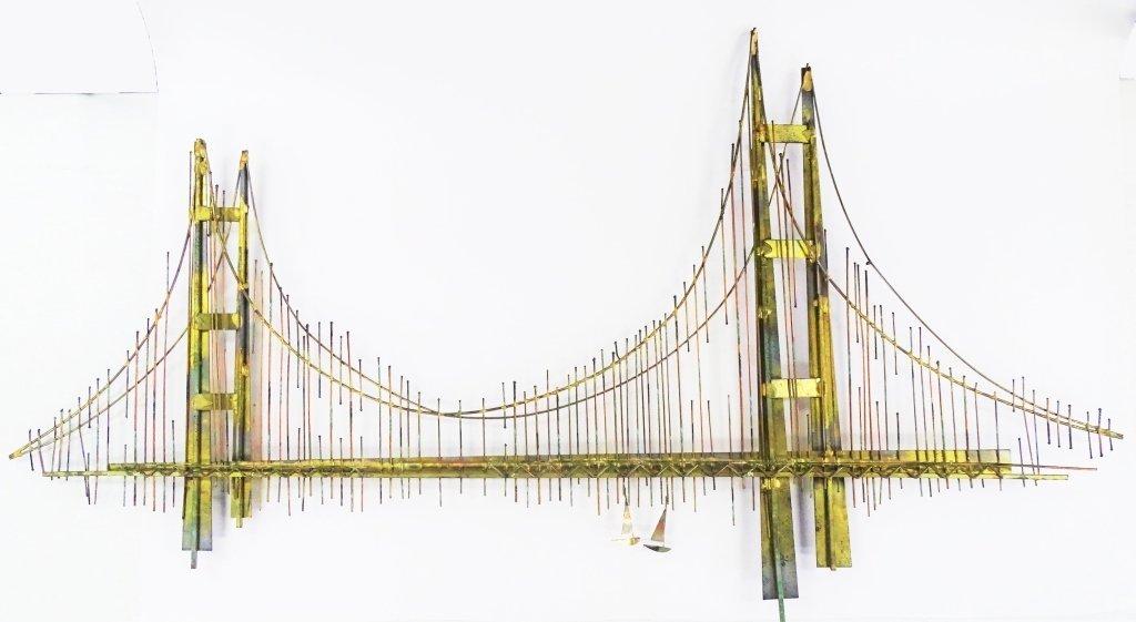 CURTIS JERE GOLDEN GATE BRIDGE SCULPTURE