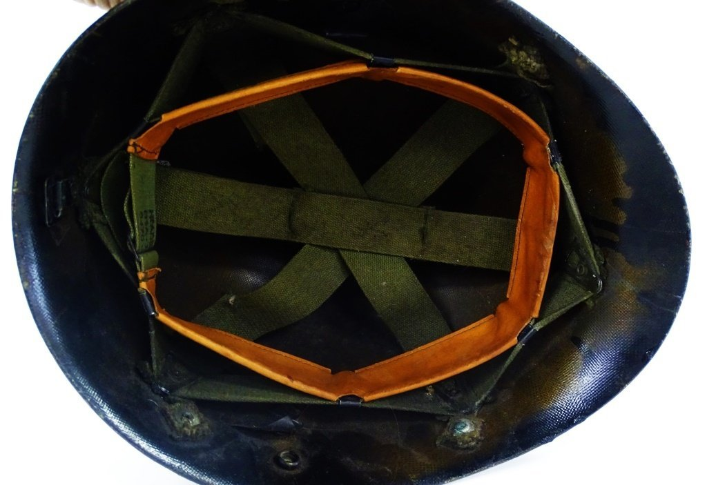 ANTIQUE MILITARY HELMET LINER MILITARY POLICE - 4
