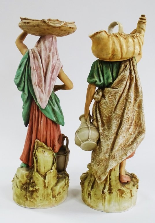 PAIR OF ROYAL DUX PORCELAIN OF A MAN AND WOMAN - 2