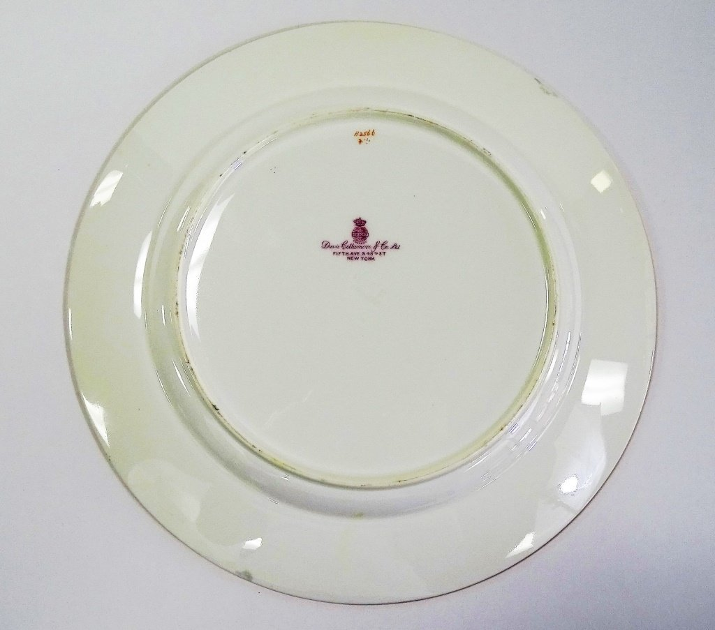 SET OF 8 ANTIQUE MINTON PORCELAIN DINNER PLATES - 3