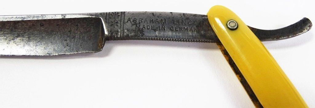 RARE ANTIQUE ABRAHAM LINCOLN STRAIGHT RAZOR - 3
