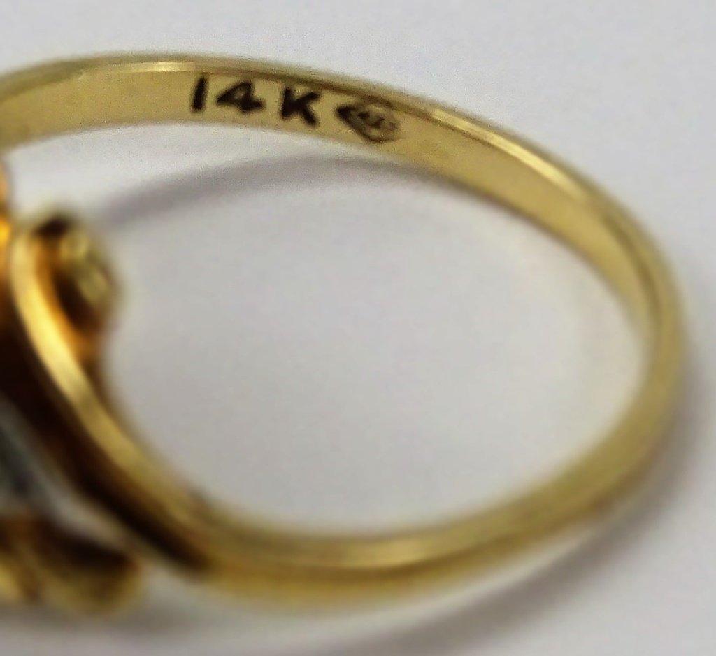 LADIES 14KT YELLOW GOLD RING - 4