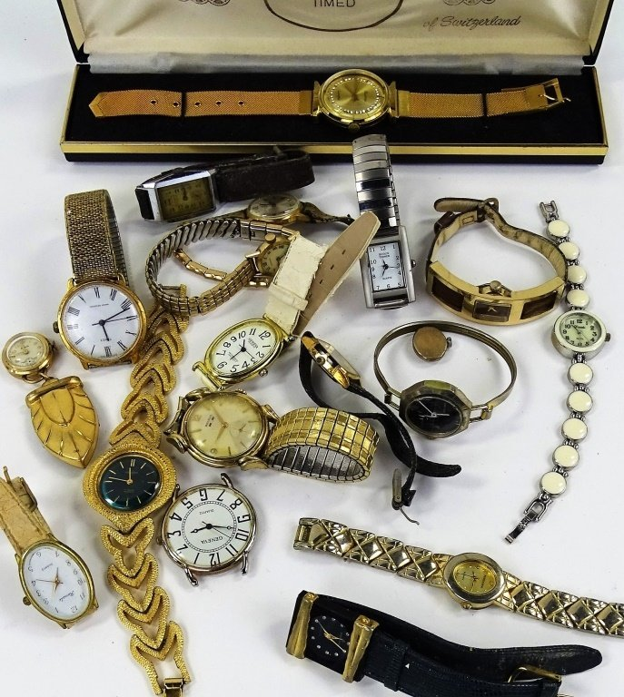 COLLECTION OF VINTAGE WATCHES & WATCH PARTS