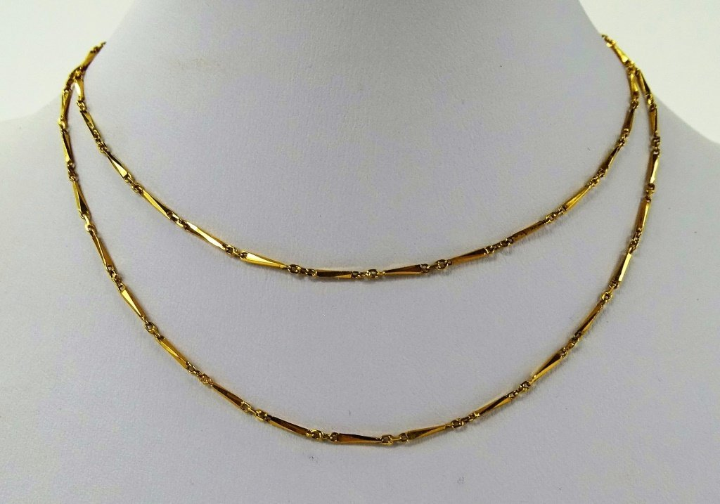 ANTIQUE 22KT YELLOW NECKLACE