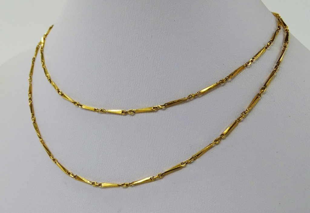ANTIQUE 22KT YELLOW NECKLACE - 2