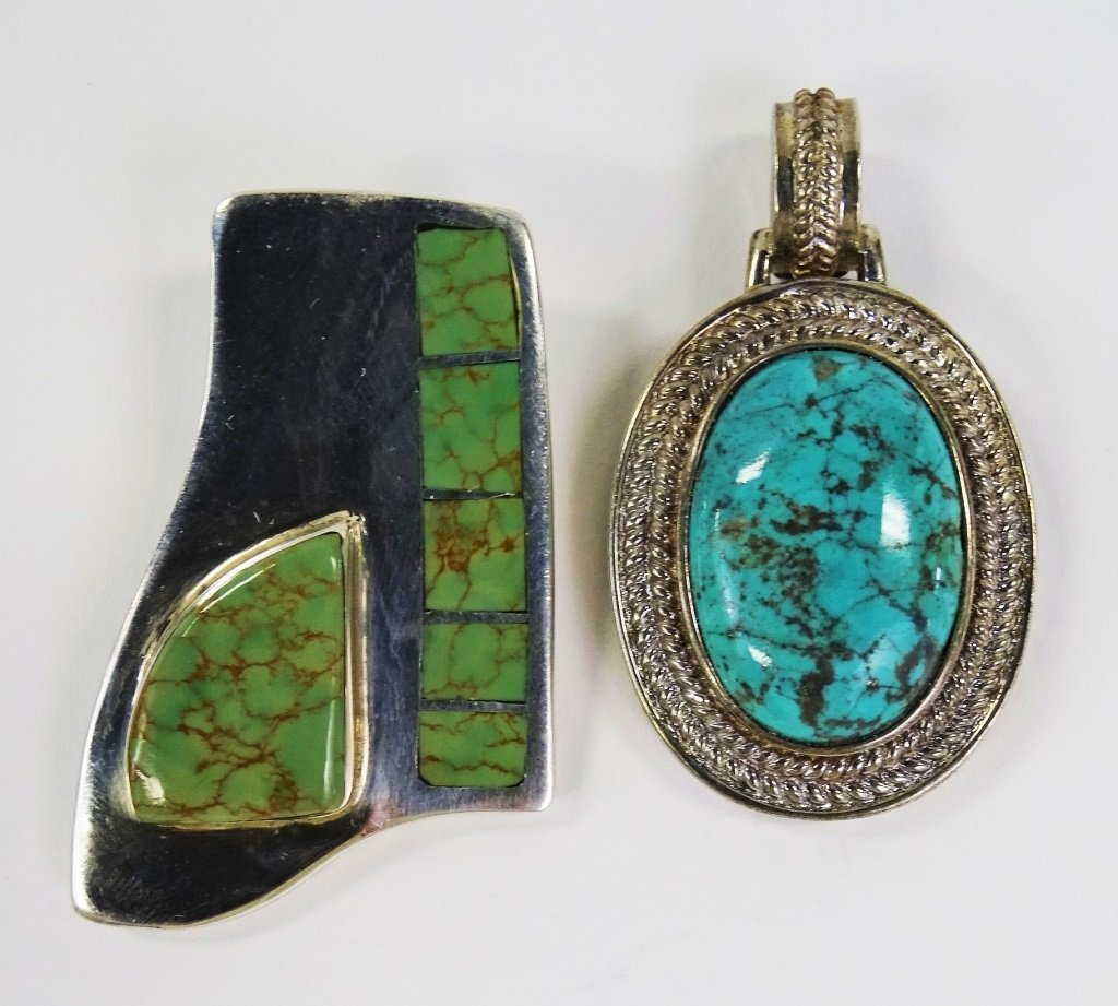 2PC STERLING & TURQUOISE JEWELRY SUITE