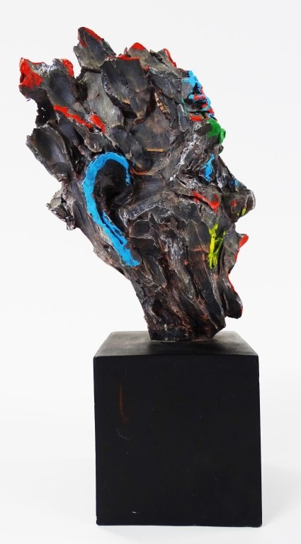 PETER KIEL SCULPTURE OF MAN WITH OPEN MOUTH - 2