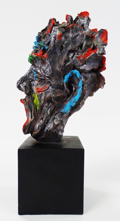 PETER KIEL SCULPTURE OF MAN WITH OPEN MOUTH - 3
