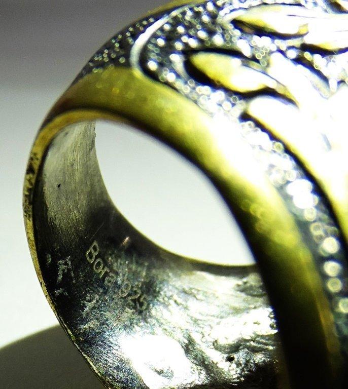 BORA HANDMADE 925 STERLING & TURQUOISE RING - 5