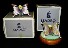 LLADRO PORCELAIN BUTTERFLY FIGURINES #6173/6703