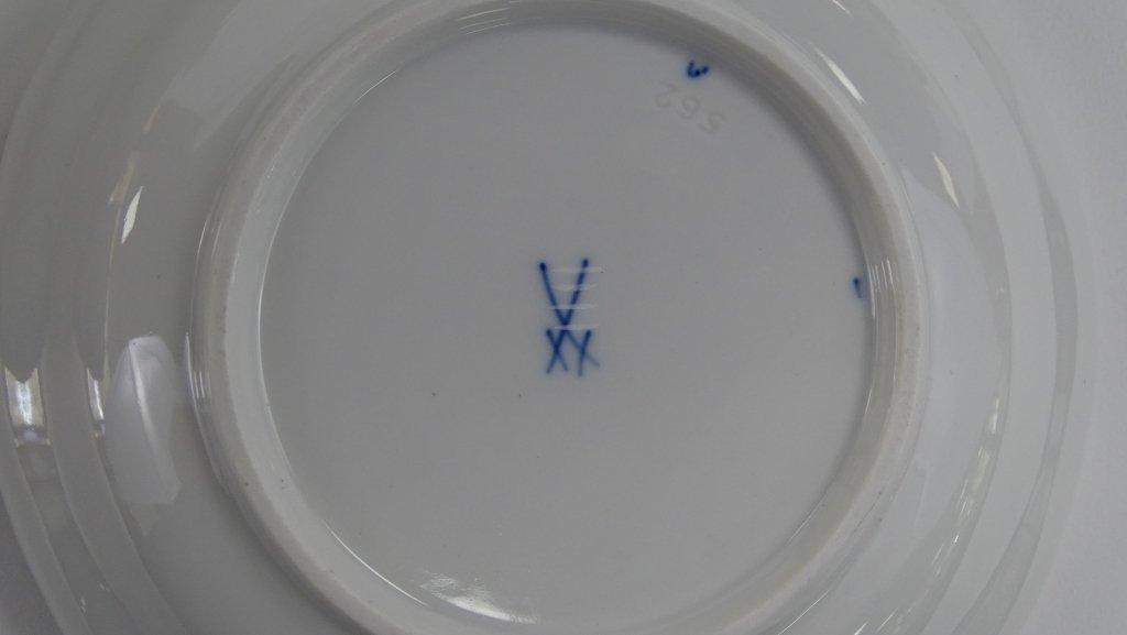 21PCS MEISSEN 'BLUE ONION' PORCELAIN DINNERWARE - 2