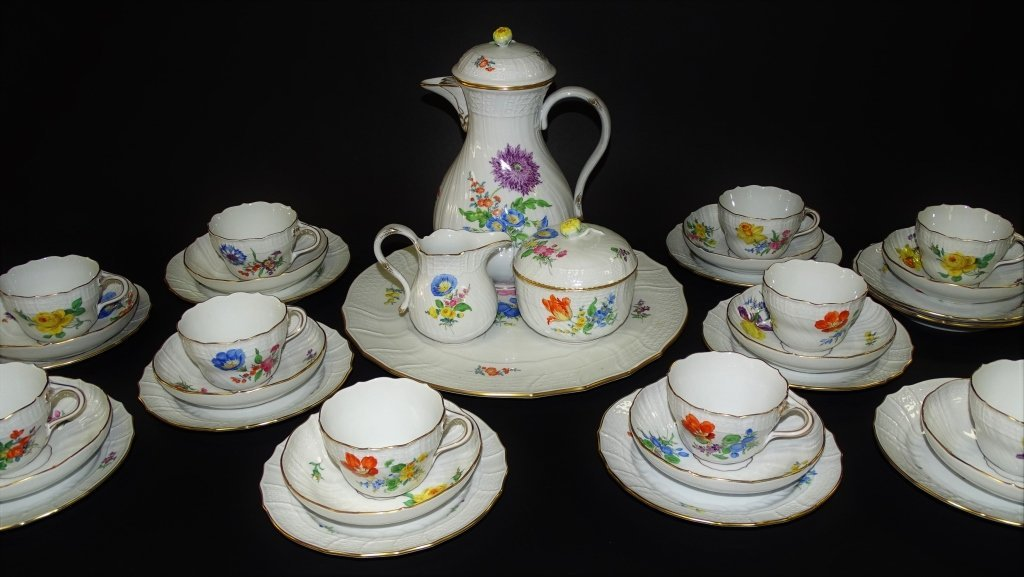 35PCS MEISSEN GERMAN PORCELAIN DINNERWARE - 2