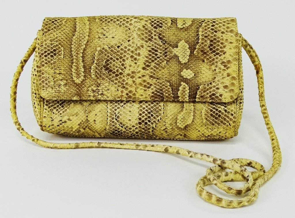 MARIO VALENTINO WOMANS SNAKESKIN CLUTCH BAG