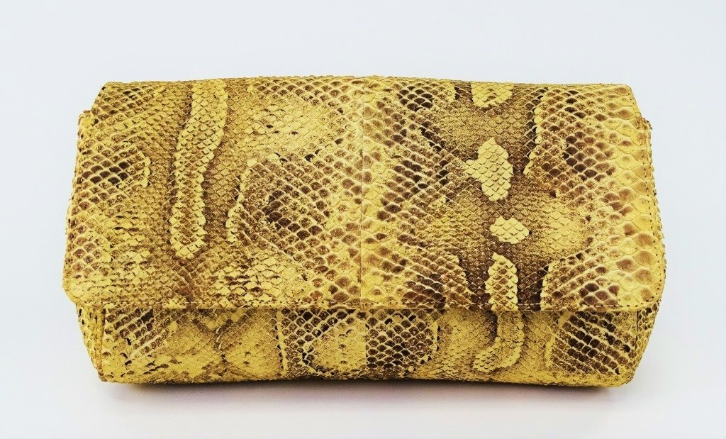 MARIO VALENTINO WOMANS SNAKESKIN CLUTCH BAG - 2