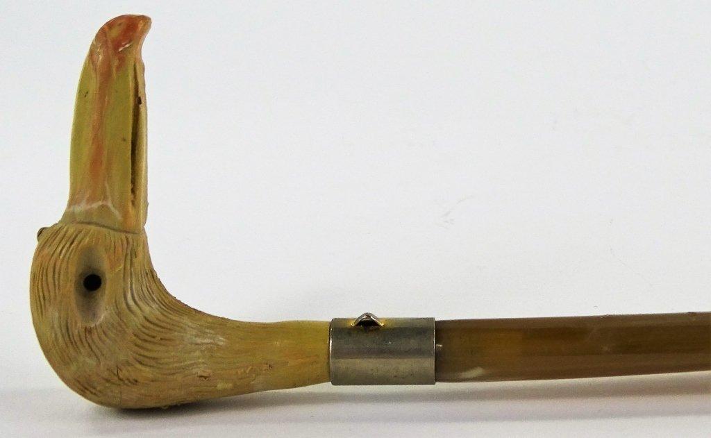 VINTAGE SHOEHORN NATURAL BONE BIRD HANDLE - 4