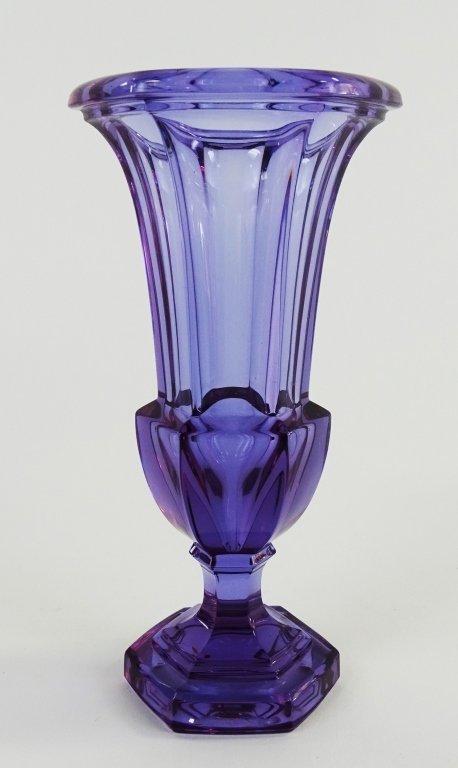MOSER ALEXANDRITE/NEODYMIUM GLASS VASE