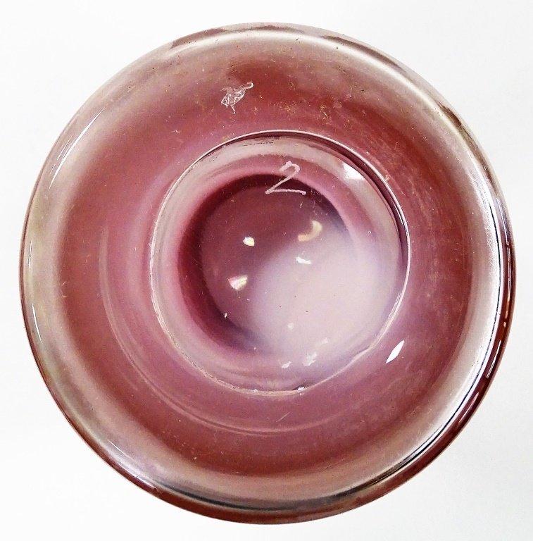 MURANO STYLE ART GLASS CYLINDER VASE - 4