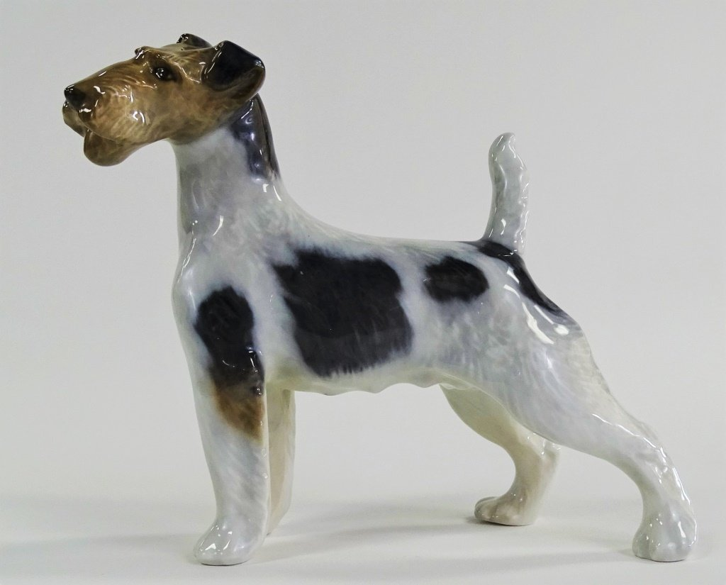 ROYAL COPENHAGEN DENMARK PORCELAIN TERRIER DOG