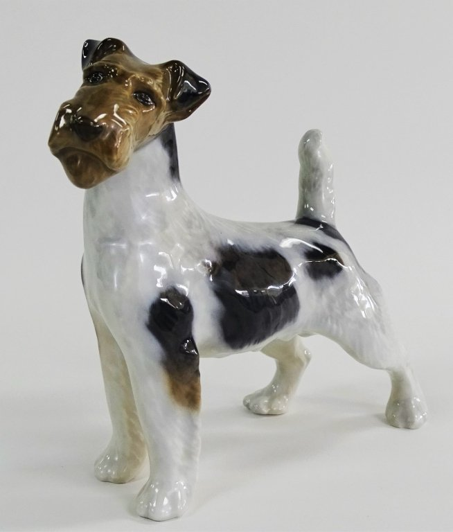 ROYAL COPENHAGEN DENMARK PORCELAIN TERRIER DOG - 3