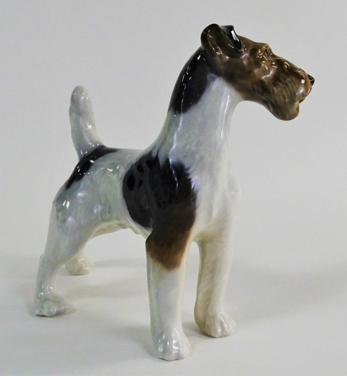 ROYAL COPENHAGEN DENMARK PORCELAIN TERRIER DOG - 4