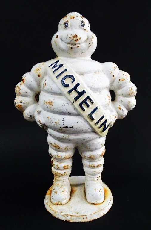 VINTAGE LARGE CAST IRON FIGURE OF THE MICHELIN MAN