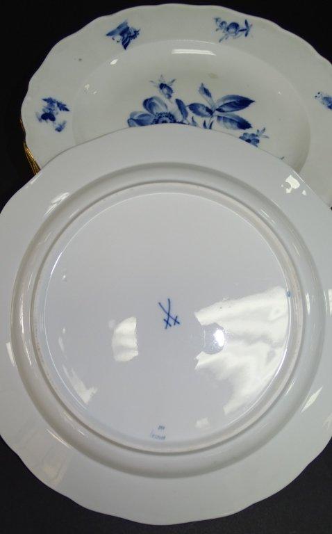 10PCS MEISSEN GERMAN PORCELAIN DINNERWARE - 2