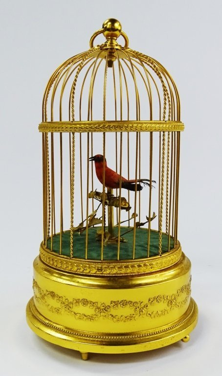 REUGE SWISS SINGING BIRD IN CAGE AUTOMATON