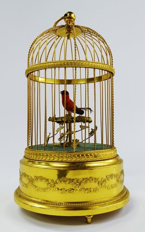 REUGE SWISS SINGING BIRD IN CAGE AUTOMATON - 2