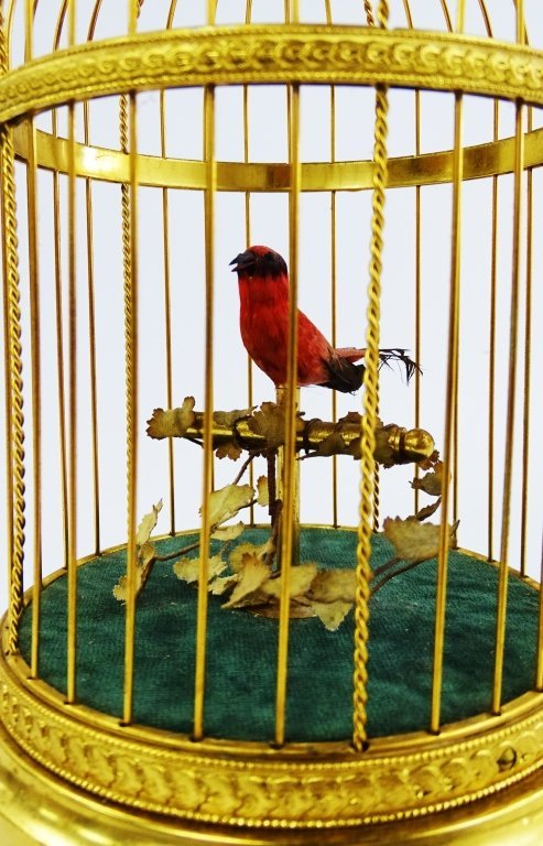 REUGE SWISS SINGING BIRD IN CAGE AUTOMATON - 3