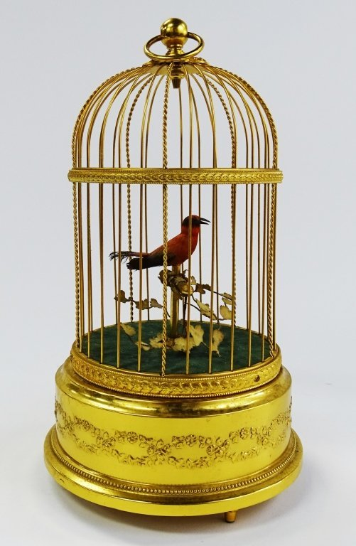 REUGE SWISS SINGING BIRD IN CAGE AUTOMATON - 4